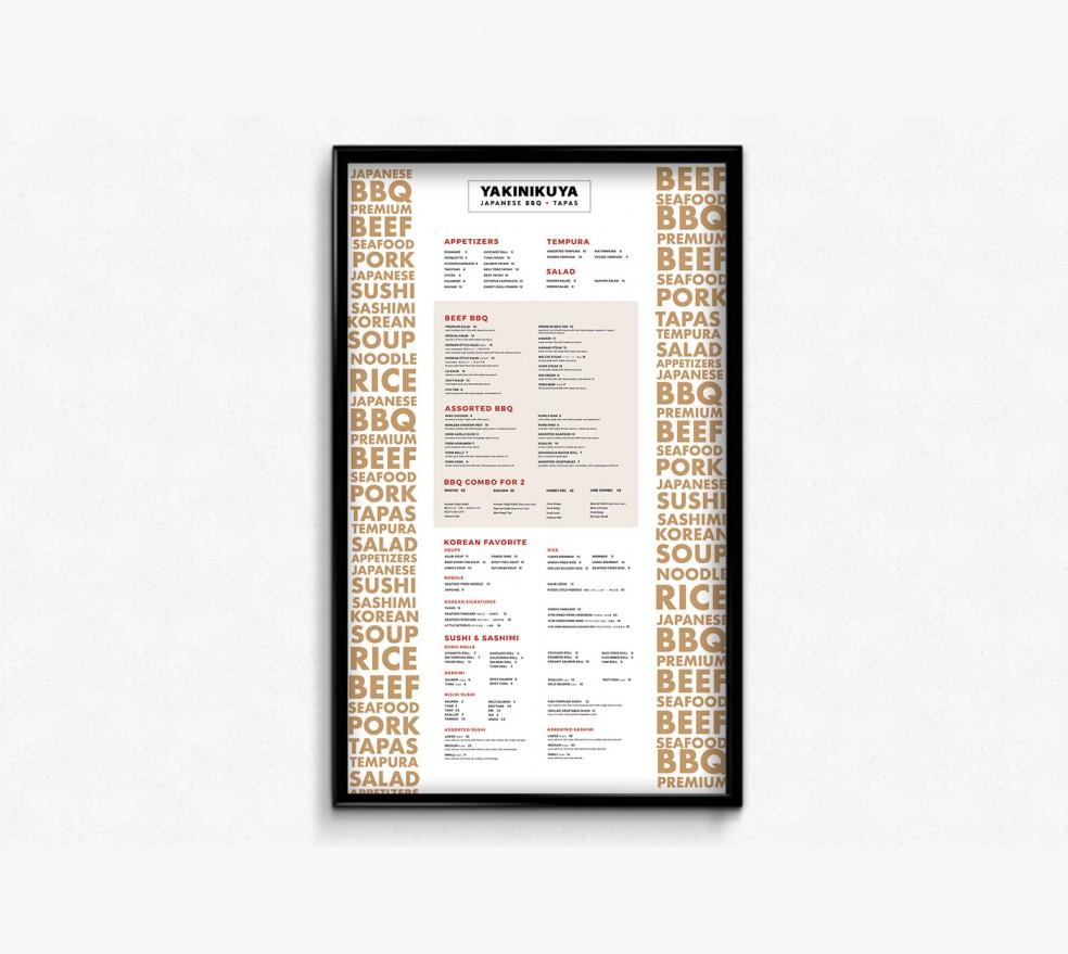 vancouver restaurant menu designs